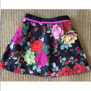 Girls floral butterfly design skirt with pockets